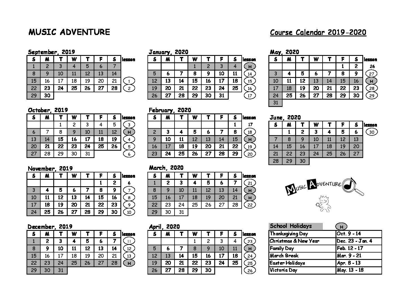 MA1 Calendar 19-20